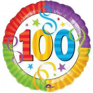 happy 100th birthday balloon