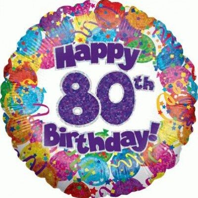happy 80th birthday balloon