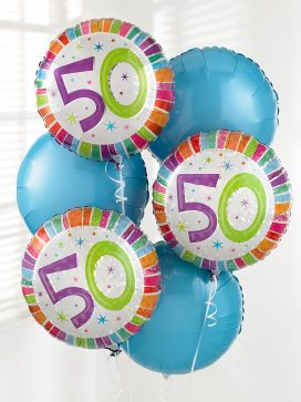 50th balloon bouquet