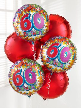 60th balloonbouquet