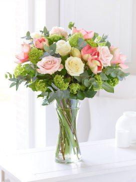 elegant rose and amaryllis hand-tied
