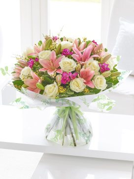 spring rose lily and freesia ht